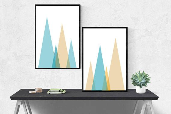 Minimalist geometric abstract art wall art. Available for instant digital download on Etsy!