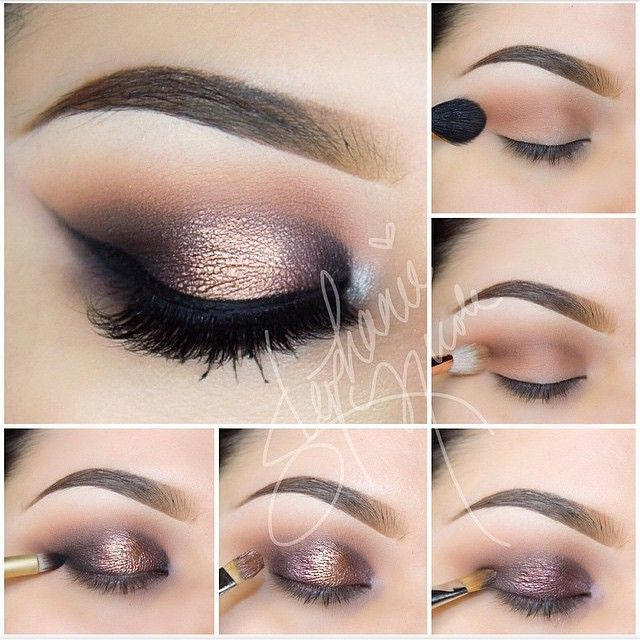 Gorgeous copper and purple smokey eye