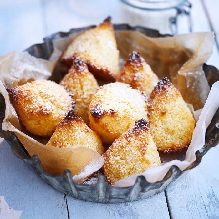 Kokostoppar med vaniljsocker