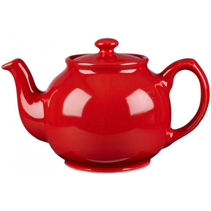 Churchill Red Teapot - Labour Day | BBC Shop