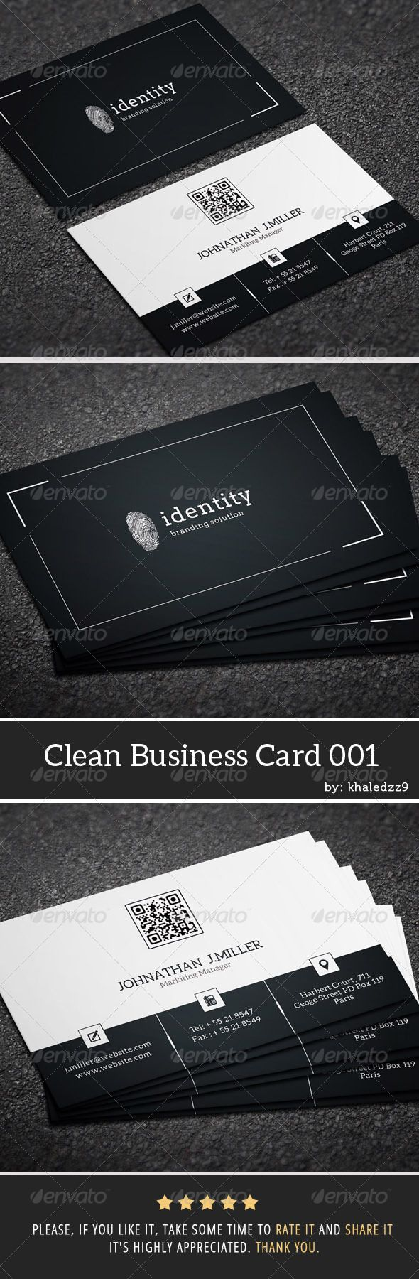 26 best design business cards images on pinterest card clean business card 001 magicingreecefo Choice Image