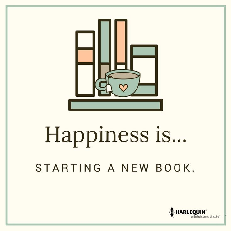 Happiness is...starting a new book. :D <3