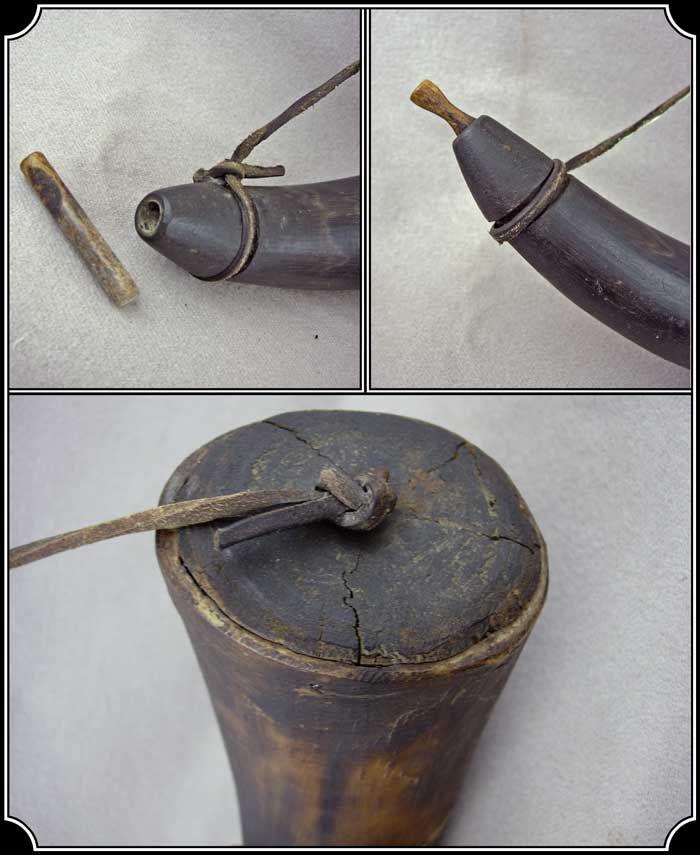 Antique powder horn
