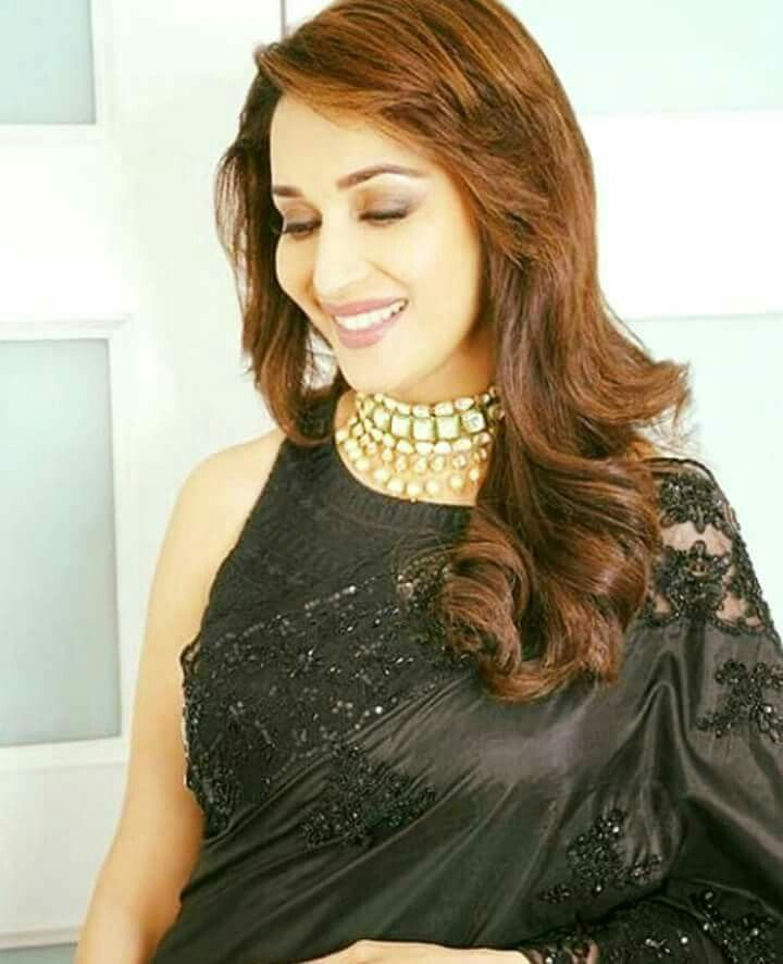 Madhuri D Nene Most Beautiful Indian Actress Bollywood Fashion Bollywood Saree Blouse Designs
