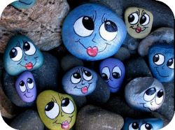 Aren't these Happy Thought Rocks adorable? To feed them, you have to tell them happy thoughts! Download a free Happy Thought Journal and enter to win 10 hand-painted Happy Thought Rocks!