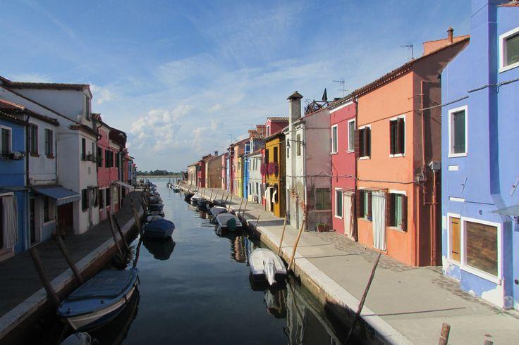 Colourful homes on Burano Island, Italy