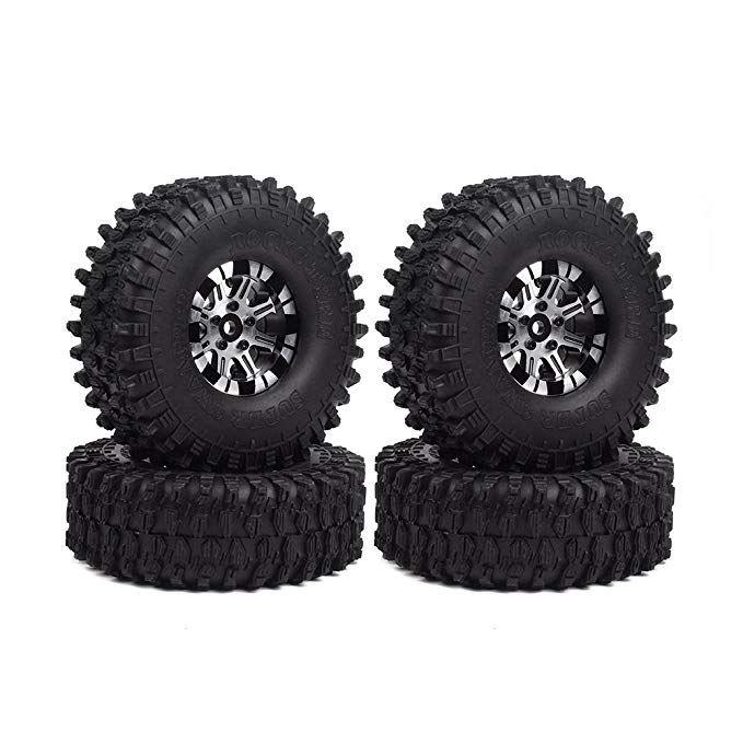 Injora 120mm Tires Beadlock Wheels Traxxas Rc Crawler