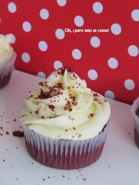 """Oh, ¿pero esto se come?: """"Red Velvet"""" cup cakes"""