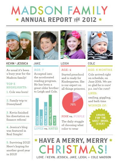 Christmas letters annual reports and christmas design on for Christmas newsletter design ideas