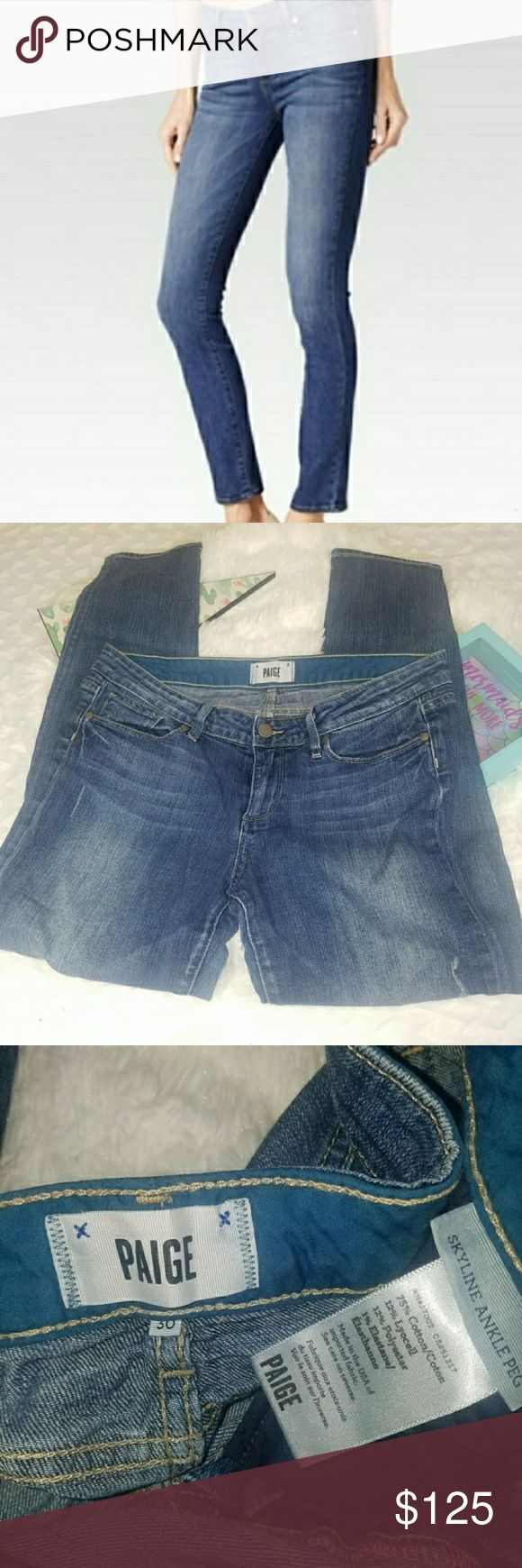 Paige skyline distressed ankle peg size 30 🎉Like new PAIGE SKYLINE ANKLE PEG 🎉SIZE-30 🎉 MANUFACTURED distressing 🎉wash- medium to light  🎉Bundle and save 🎉offers welcome  Rock Revival, Anthro ,Anthropologie,  Dojo 7, For All Mankind ,Citizens of Humanity ,Miss Me ,True Religion, AG ,BKE ,lucky Brand , gap jeans , old navy jeans ,  american eagle , 7fam , old navy, gap , trousers, pants, slacks , cute , stylish, designer jeans , PAIGE Jeans Ankle & Cropped