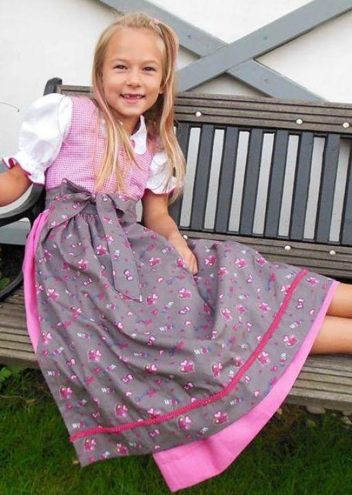 Ebook Kinderdirndl Vroni mit Schürze und Bluse