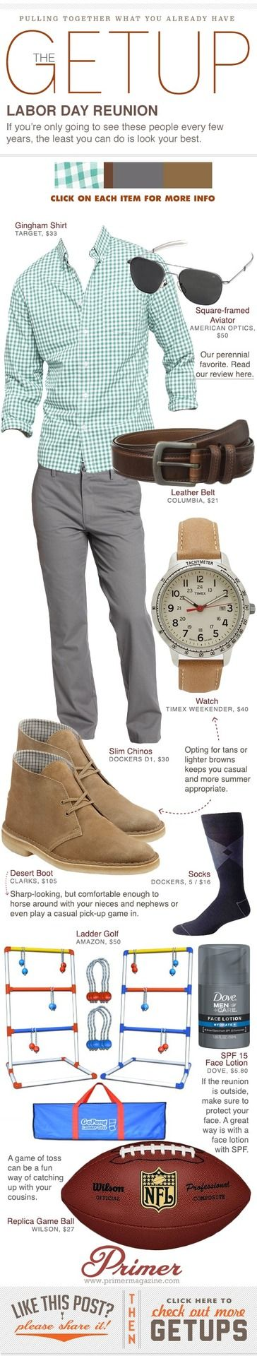 Men's Fashion - The Getup: Labor Day Reunion