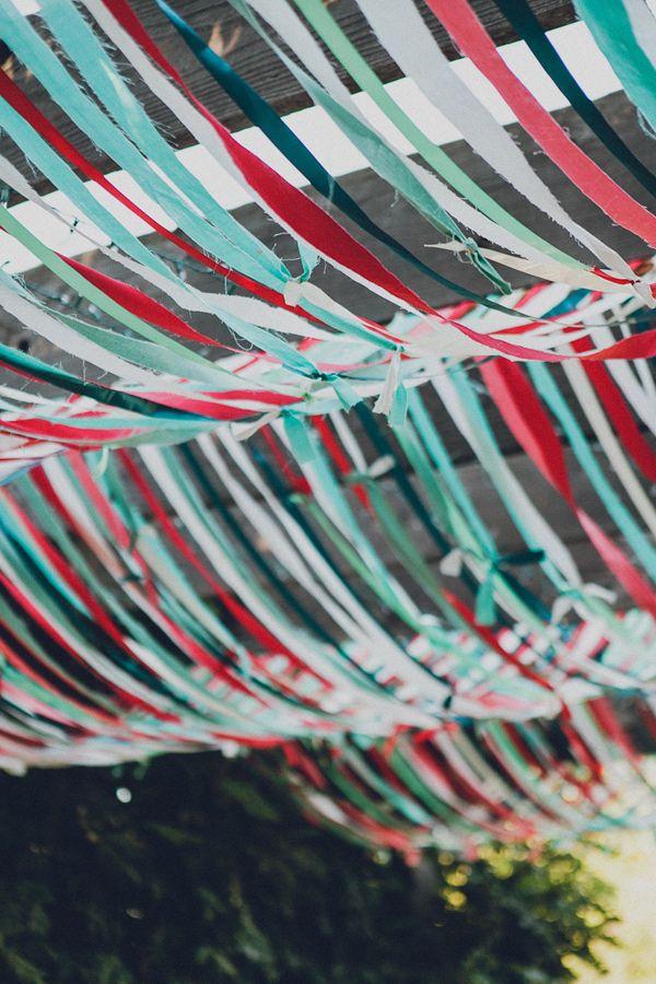 ribbon tent // photo by Jaquilyn Shumate http://ruffledblog.com/brookshire-gardens-wedding/