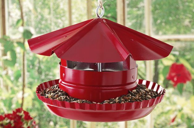 Free tutorial Turn an old pie tin and a few other items from the hardware store into a DIY bird feeder with this recycled crafts project idea.