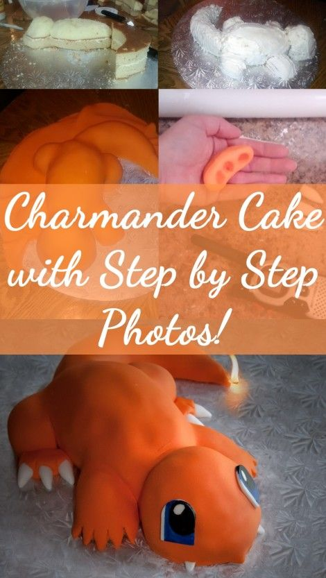 Pokemon Charmander Cake with Step by Step Photos!