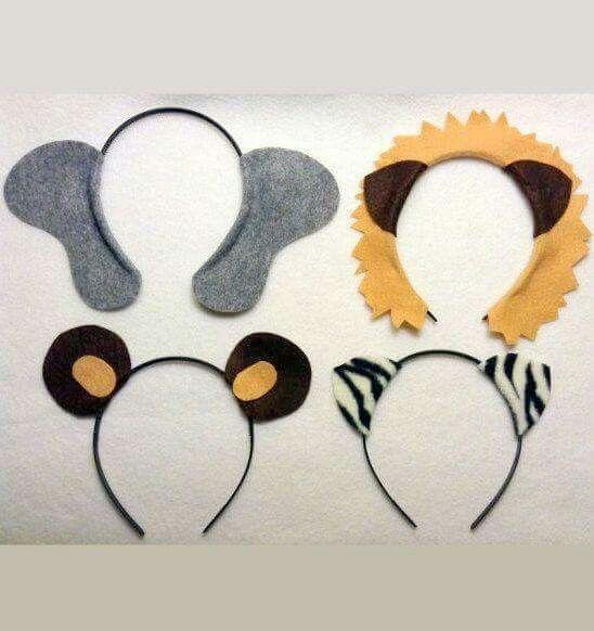 Orejas elefante, León, oso panda
