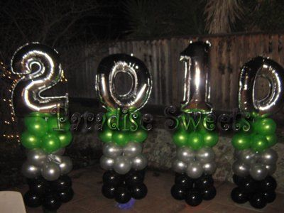 Elegant Graduation Centerpieces Balloons Decor Letters N Numbers Balloon Decorations