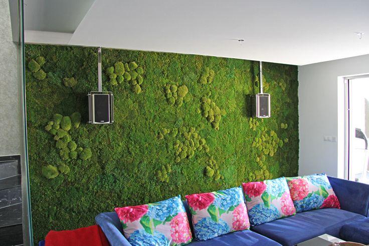 Machová stena v obývačke