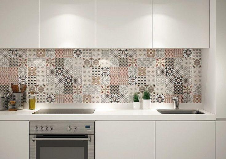 crédence cuisine en carreaux de ciment patchwork, Yurtbay Ceramic
