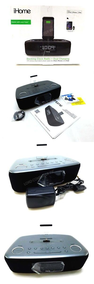 Digital Clocks and Clock Radios: Ihome Idl44 Desktop Clock Radio - Stereo - Apple Dock Interface (Idl44gc) -> BUY IT NOW ONLY: $61.74 on eBay!