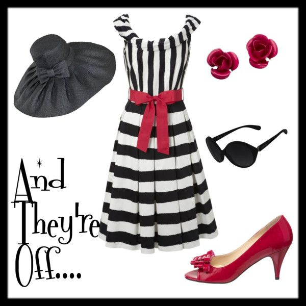 Kentucky Derby- black and white, with red!