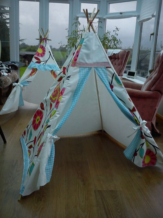 Childrens wigwam. teepee, tipi, play tent, fort.  Also available to order in you own choice of colour or theme. on Etsy, $94.62