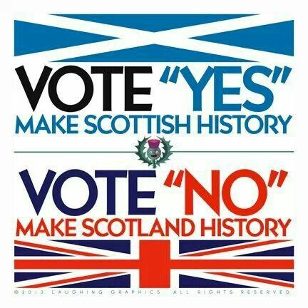 Scottish Independence Referendum 18/9/14. The first chance to become independent in 700 years without battle, the shedding of any blood, any loss of life or any Scottish lands!!!! Vote Aye Scotland.