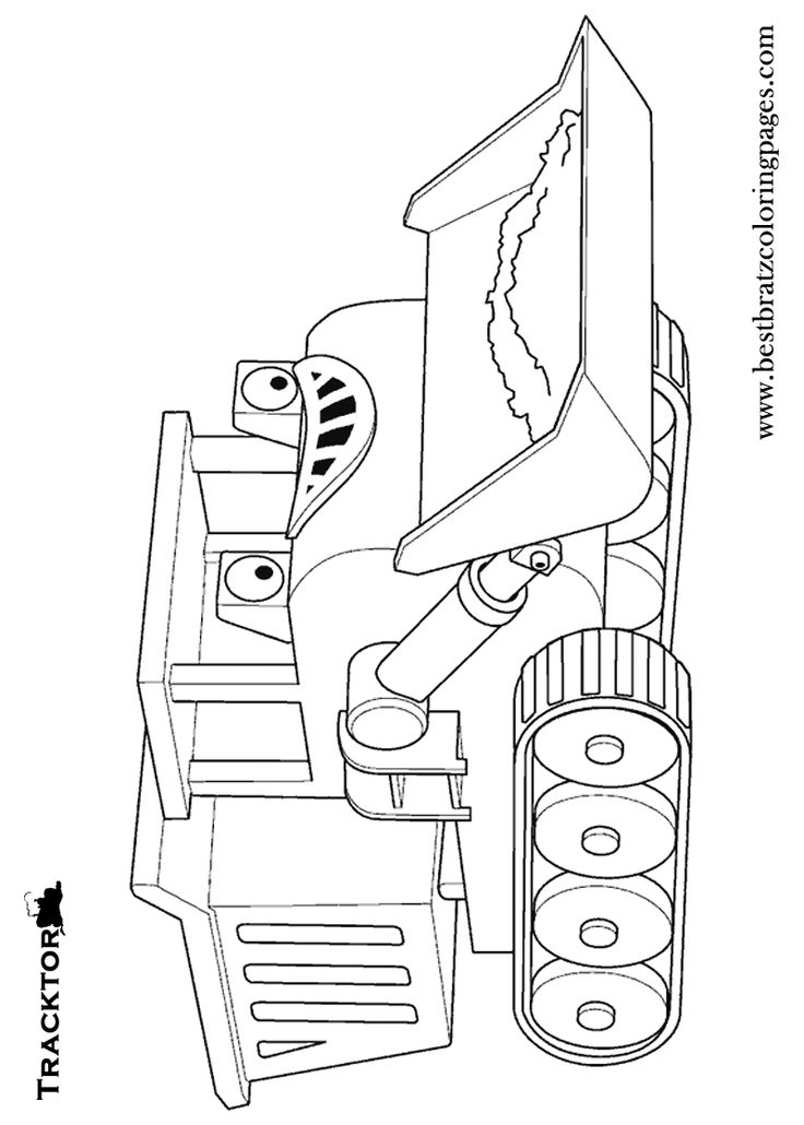 free backhoe coloring pages - photo#10
