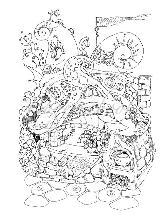 Nice Little Town 4 Adult Coloring Book Coloring Pages