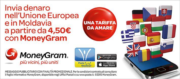 Vuoi inviare denaro all estero con moneygram dal tuo for Poste mobili 0 pensieri small