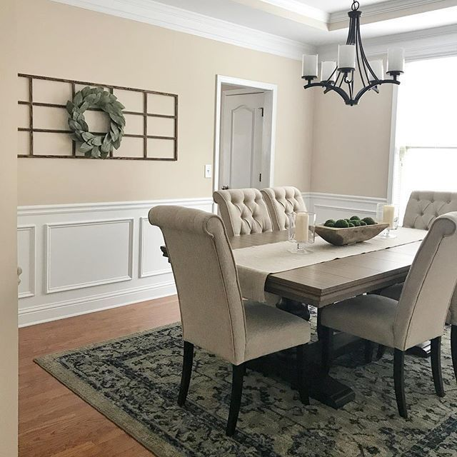 Farmhouse Dining Room, Ashley Furniture Tripton Dining Room Chairs