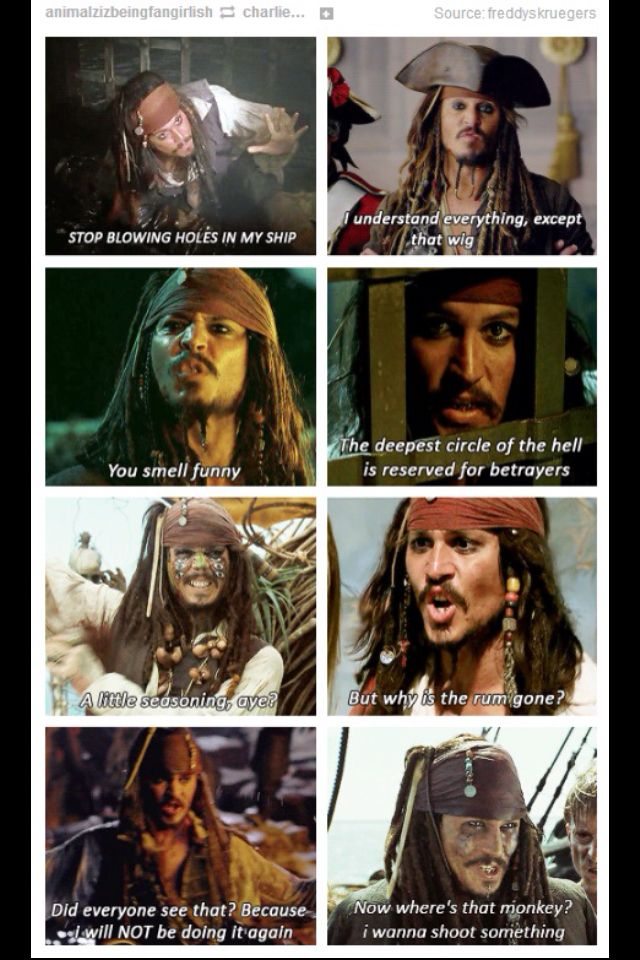 Captain Jack Sparrow. Some of his best quotes