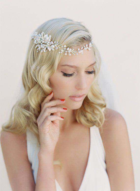 Bridal Hair Accessories Boho : Best 25 bridal hair garlands ideas on pinterest ivory floral