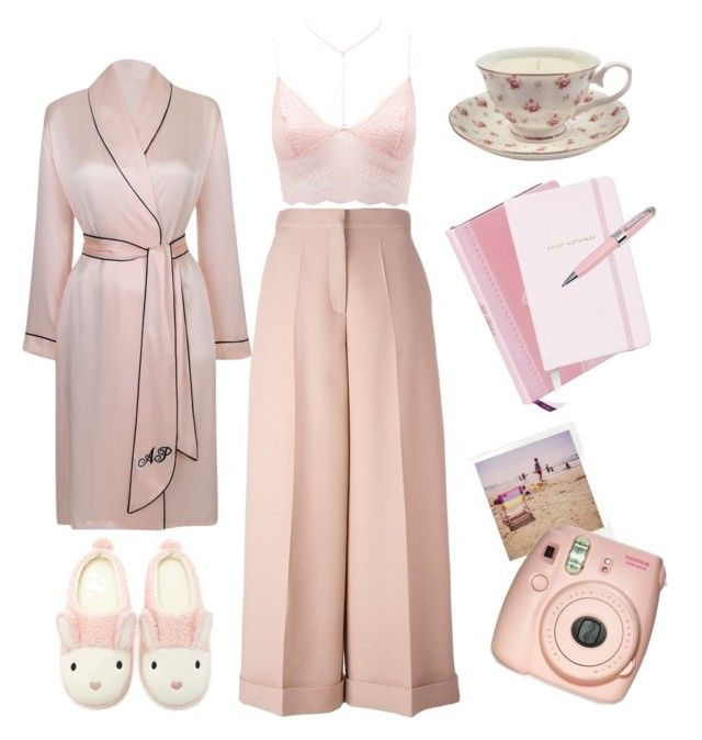 """Mornings @ home 🌺"" by rosecherries ❤ liked on Polyvore featuring Valentino, Charlotte Russe, Forever 21, Agent Provocateur, Ted Baker, Kate Spade, ICE London, Polaroid and Fujifilm"