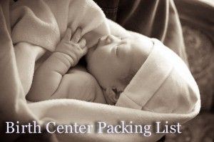 A doula's list of what to pack for a birth center birth/natural birth {best list I've seen so far!}