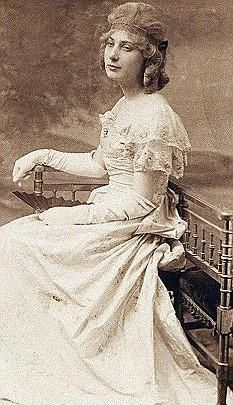 Roberta Elizabeth Mary Maioni, 20, was born in Norfolk in 1892. She boarded the Titanic at Southampton, travelling as maid to the Countess of Rothes. According to her family, she became fond of a young crew member, but the romance was cut short when the Titanic collided with an iceberg. The crew member gave Roberta a White Star badge from his uniform which she always kept with her in later life. She never revealed the steward's identity. The Countess and Ms Maioni were rescued in lifeboat 8.
