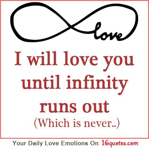 Infinity Love Quotes Captivating Infinity Endless Love Quote With Image  The Best Collection Of Quotes