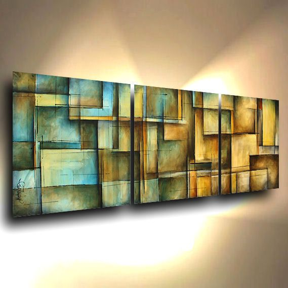 abstract art MODERN painting Contemporary DECOR Mix Lang certified original