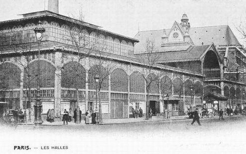 Les anciens pavillons des Halles de Baltard à Paris