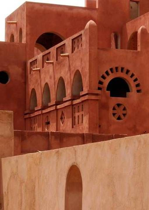 Great Mosque in Djenne, Mali is the largest adobe (mud-brick) building in the world & a stunning example of the local architecture, the mosque is a designated UNESCO World Heritage Site & one of Africa's most famous landmarks drawing visitors from around the world.