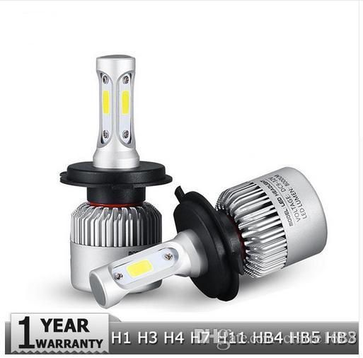 H4 H7 H11 H1 H13 H3 9004 9005 9006 9007 9012 COB LED Car Headlight Bulb Hi-Lo Beam 72W 8000LM 6500K Auto Headlamp 12v 24v - $47.99