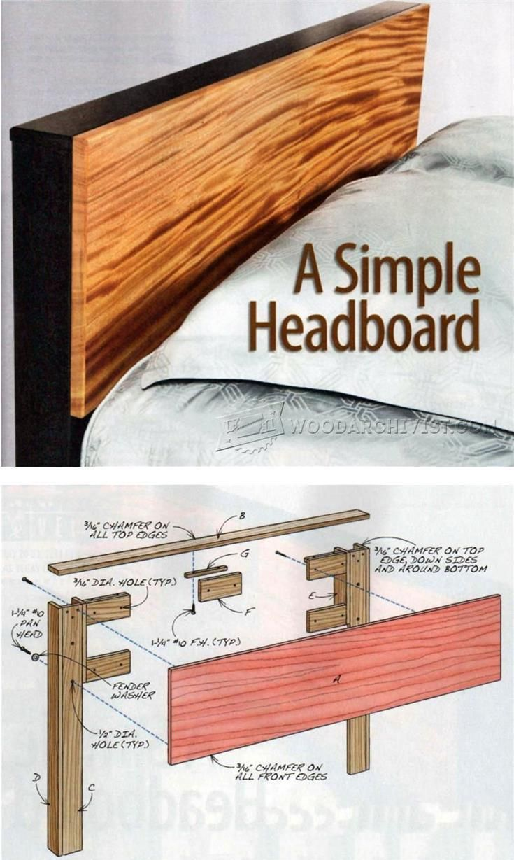 25 best ideas about diy headboards on pinterest - Woodworking plans bedroom furniture ...