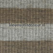 Geweven ratan horizontale streep bruin behang 18320 strepen BN Wallcoverings