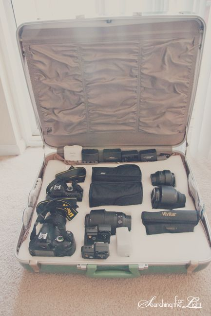 DIY Vintage Camera Case from Old Suitcase Denver Vintage Wedding Photographer 1950s Durabilt Fiberglas