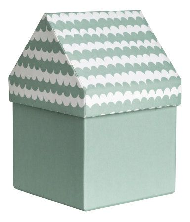 Storage Box | Dusky green/patterned | Home | H&M US