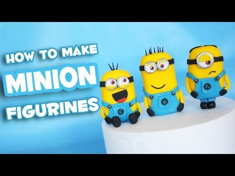TheCakingGirl: How to make Minion Figurines tutorial - minion figurine cake toppers step by step