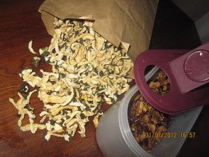Фото к рецепту: Сушеные кабачки, баклажаны