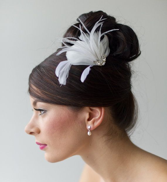 Bridal Fascinator Wedding Fascinator Ivory by PowderBlueBijoux