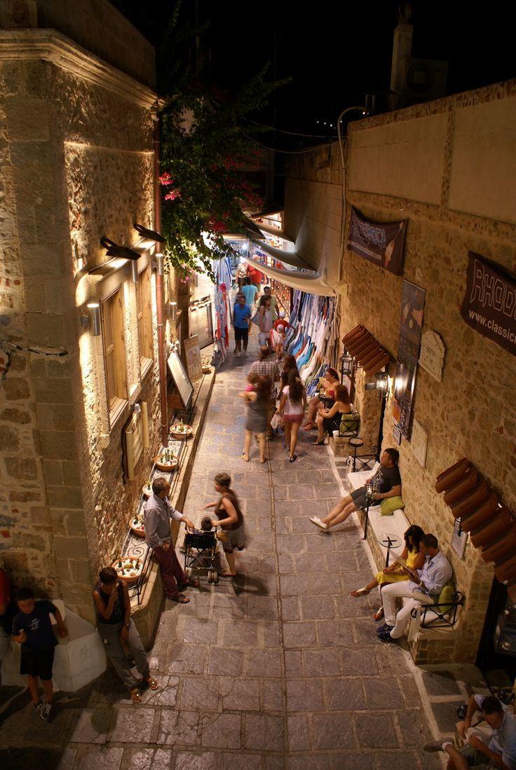 Lindos, Rhodes Greece.  Post teacher-training reward holiday with a fellow trainee teacher.