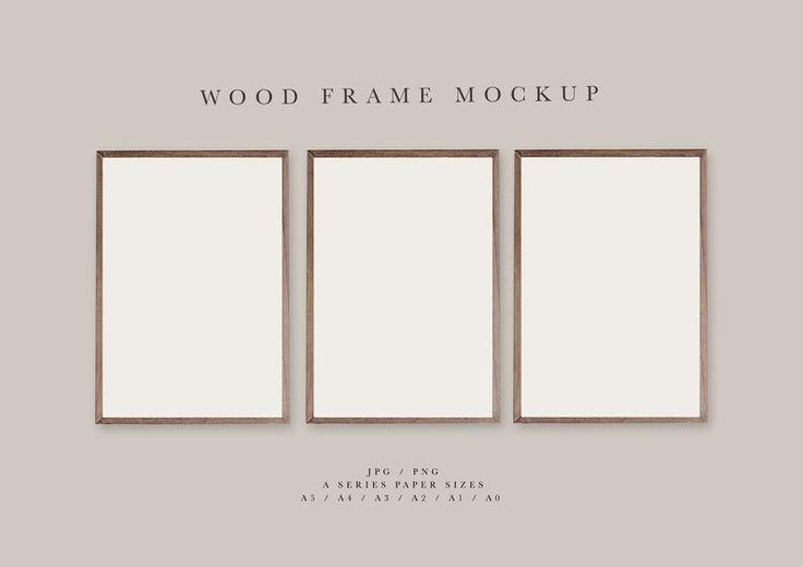 Frame Mockup 151 Brown Wood Portrait Photo Frame Three Etsy In 2021 Frame Mockups Boho Frame Scandinavian Frames